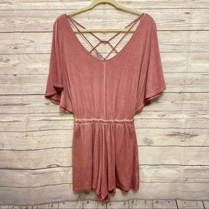 American Eagle | rose pink Strappy romper